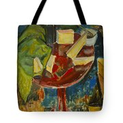 Red Table Top Still Life Tote Bag