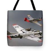 Red Tail Escort Tote Bag