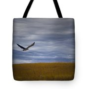 Red Tail Hawk Over The Prairie Tote Bag