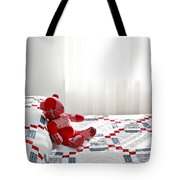 Red Teddy Bear Tote Bag