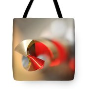 Red Three Quarter Tote Bag