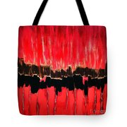 Red Thunder Clash II Tote Bag
