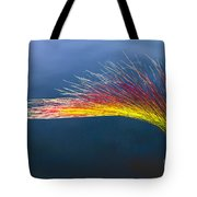 Red Tipped Grass Tote Bag by Robert Bales