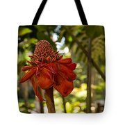 Red Torch Ginger Lily In Hawaii Tote Bag