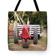 Red Tractor Ready To Roll Tote Bag