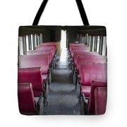 Red Train Seats Tote Bag
