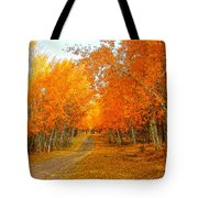 Red Tree Rd Tote Bag