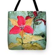 Red Trillium Tote Bag