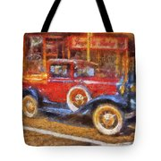 Red Truck Photo Art Tote Bag