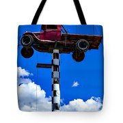 Red Truck With Cross Tote Bag