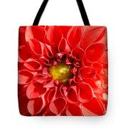 Red Tubular Flower Tote Bag