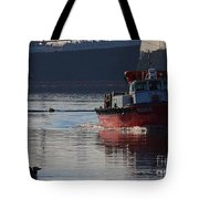 Red Tug Boat Tote Bag