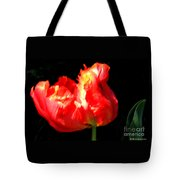 Red Tulip Blurred Tote Bag