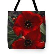 Red Tulip Pair Tote Bag