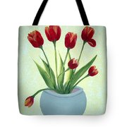 Red Tulips In A Pot Tote Bag