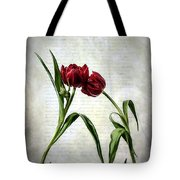 Red Tulips On A Letter Tote Bag