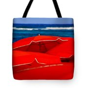 Red Umbrellas  Tote Bag