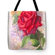 Red Valentine Rose Tote Bag