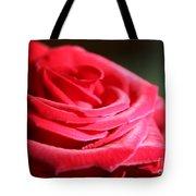 Red Velvet Rose By Morning Light  Tote Bag