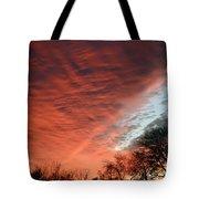 Red Velvet Sky Tote Bag