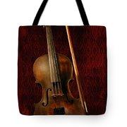 Red Violin Tote Bag