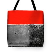 Red Wall In Black And White Tote Bag