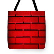 Red Wall Tote Bag by Semmick Photo