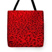 Red Water Drops On Water-repellent Surface Tote Bag