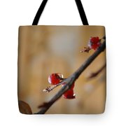 Red Wet And Luscious Tote Bag