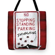 Red White And Black Tote Bag
