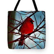 Red White And Blue Cardinal Tote Bag