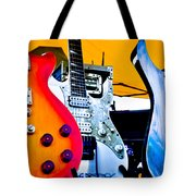 Red White And Blue Guitars Tote Bag