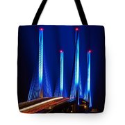 Indian River Inlet Bridge As Seen North Of Bethany Beach In This Award Winning Perspective Photo Tote Bag