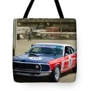 Red White And Blue Mustang Tote Bag