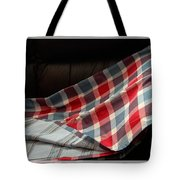 Red White And Blue Quilt  Tote Bag
