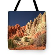Red White And Blue Sky Tote Bag