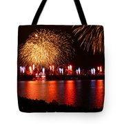 Red  White Boom Tote Bag