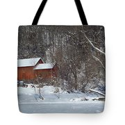 Red White Tote Bag
