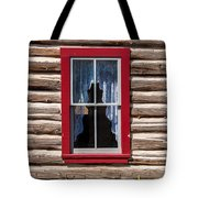 Red Window Log Cabin - Idaho Tote Bag