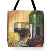 Red Wine And Cheese Tote Bag