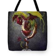 Red Wine Dragon Tote Bag