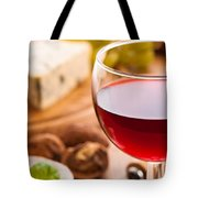 Red Wine With Cheese Tote Bag by Amanda Elwell