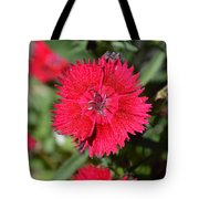 Red Winery Flower Tote Bag