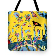 Redwing Blackbird Sunrise Tote Bag