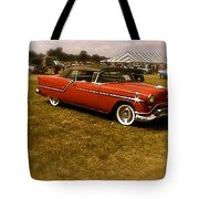 Red With Black Soft Top Tote Bag