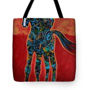 Red With Rope Tote Bag