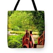 Red Wooden Bridge Tote Bag