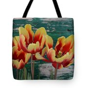 Red Yellow Tulips Tote Bag