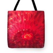 Red Zinnia Tote Bag