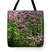 Redbud In The Woods Tote Bag